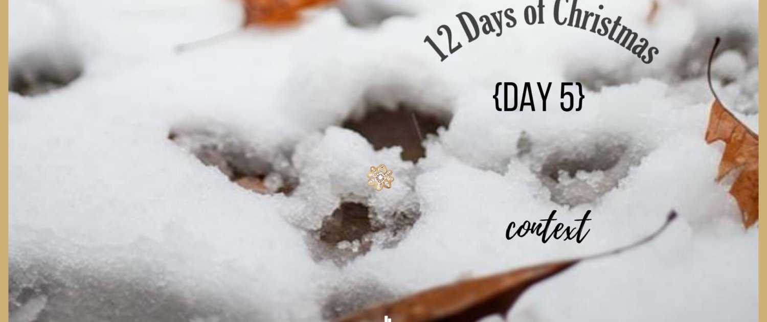 12 days of Christmas context transforming mission