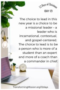 Day 12 Choices Transforming Mission