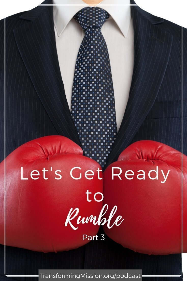 In this podcast, we talk about the power of gritty faith and gritty facts and invite you to reflect on the dangers of binary thinking. As we seek to open the space for rumbling with vulnerability in your teams and work groups. #faith #rumble #gritty #vulnerability #podcast #transformingmission Transforming Mission