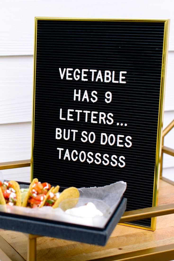 Vegetable has 9 letters...but so does tacosssss Transforming Mission