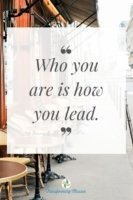 Who you are is how you lead. Need help leading? Let Transforming mission help.