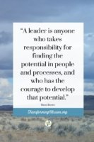 A Definition of Leader by Brene Brown. Learn More with Transforming Mission.