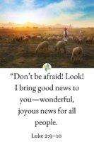 Do not be afraid - Luke