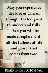 Ephesians 3 - Trusting God's Love