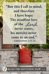 The Steadfast Love of God Lamentations 3