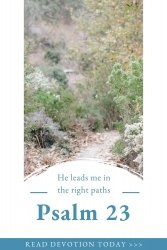 He leads me in the right path Psalm 23